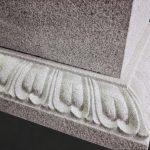 名張市東山墓園に建之した五輪塔です。こちらは奈良県天理市の長岳寺の五輪塔を本歌に製作しました。現代の名工谷本雅一が昔ながらの手加工で全て製作しました。長岳寺型五輪塔蓮華(返り華)パーツ写真です。